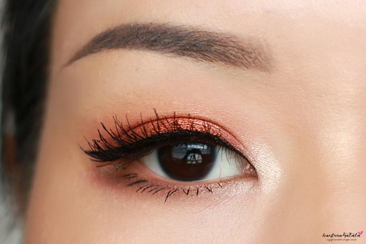 Fall Warm Copper Orange Fiery Eyes Tutorial Feat. MUG Flame Thrower & ABH Modern Renaissance Palette