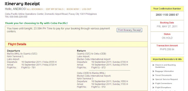 The Viewing Deck Cebu Pacific Airline E Ticket Online