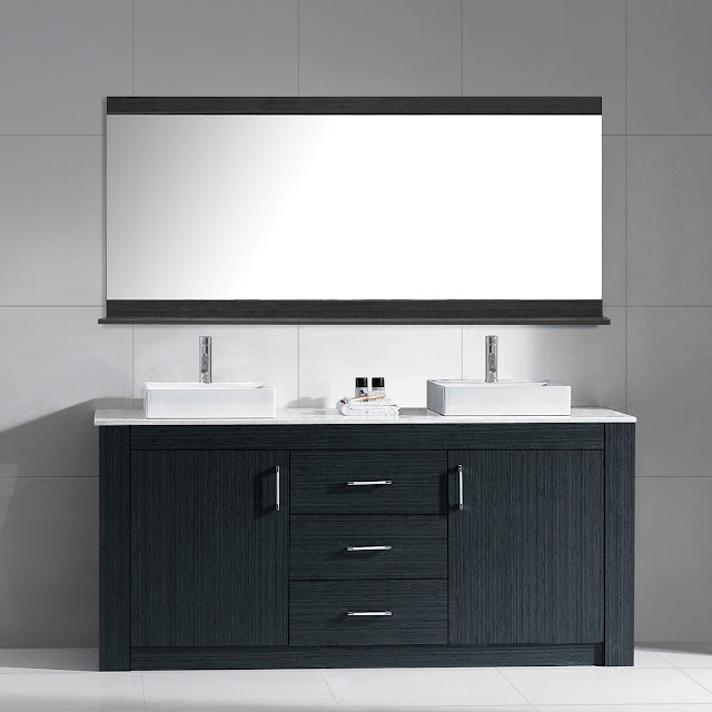 72 inch modern double sink bathroom vanity grey finish stone top - Bathroom Remodel Double Sink