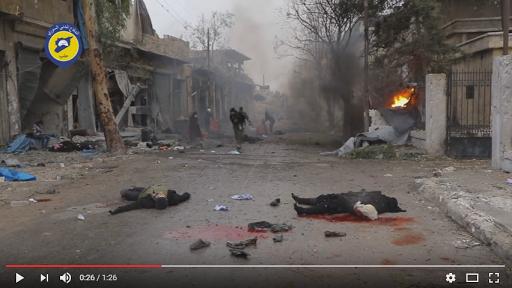 شاهد- فيديوهان يبكيان الحجر لمجزرة جب القبة في مدينة حلب التي راح ضحيتها اكثر من 40 شهيد