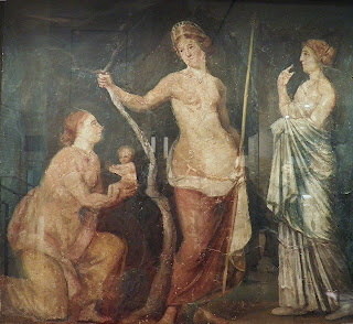 Part of a fresco from Nero's Domus Aurea in Rome, which can be found in the Ashmolean Museum in Oxford