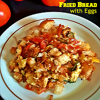 Fried Bread with Eggs Recipe @ treatntrick.blogspot.com