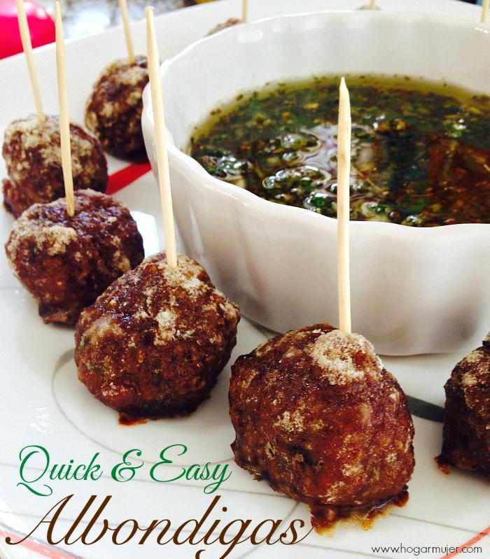 #recetas #albondigas #meatballs #aperitivos #salsas #chimichurri #cocinafácil