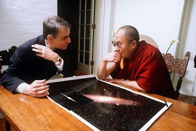 Carl Sagan y el Dalai Lama