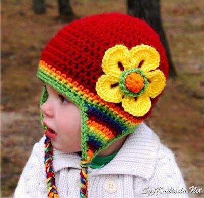 yazlık örgü kız çocuk şapkası