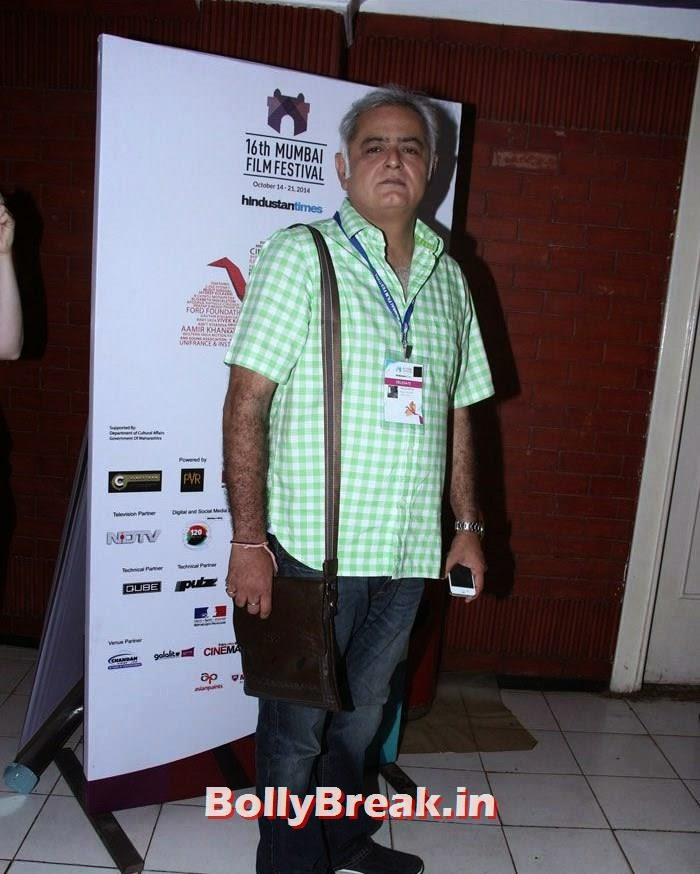Hansal Mehta, Photos from Opening Ceremony of MAMI 2014