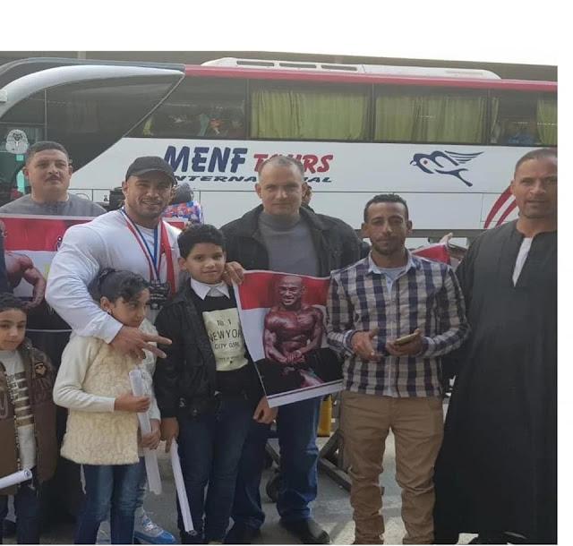"""""""محمد شعبان  """"المركز الثالث  على العالم في كمال الأجسام"""