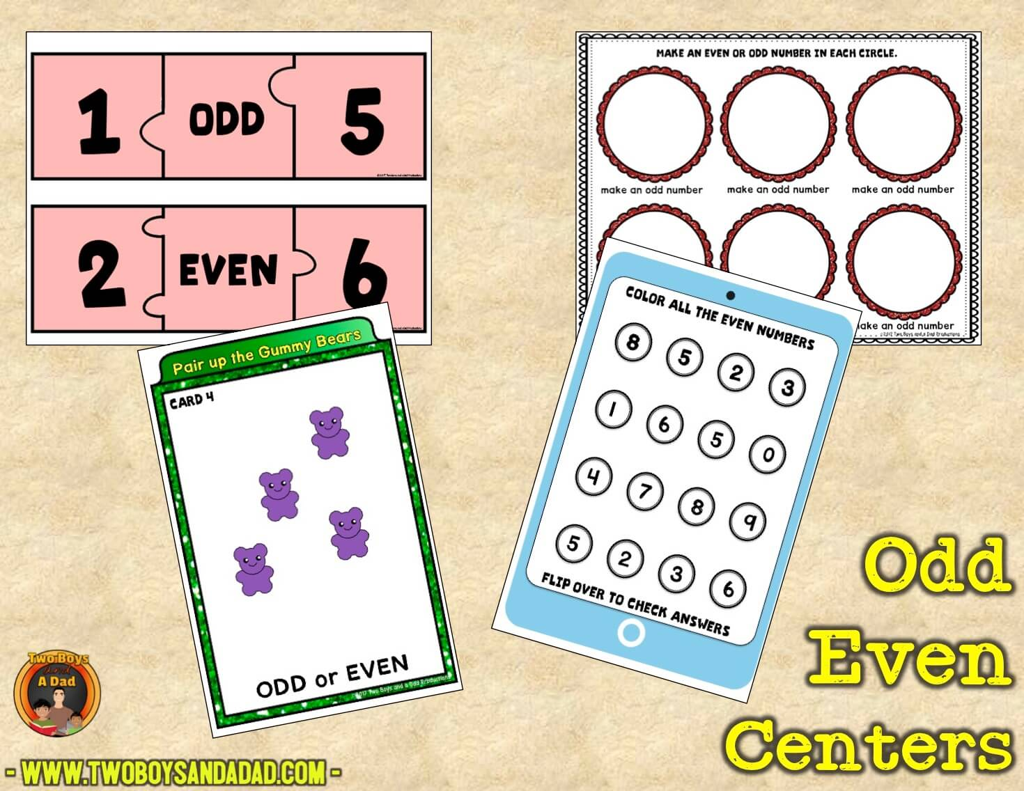 odd and even centers