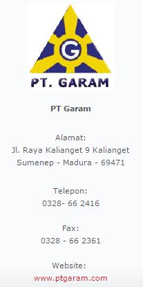 PT. GARAM (Persero)