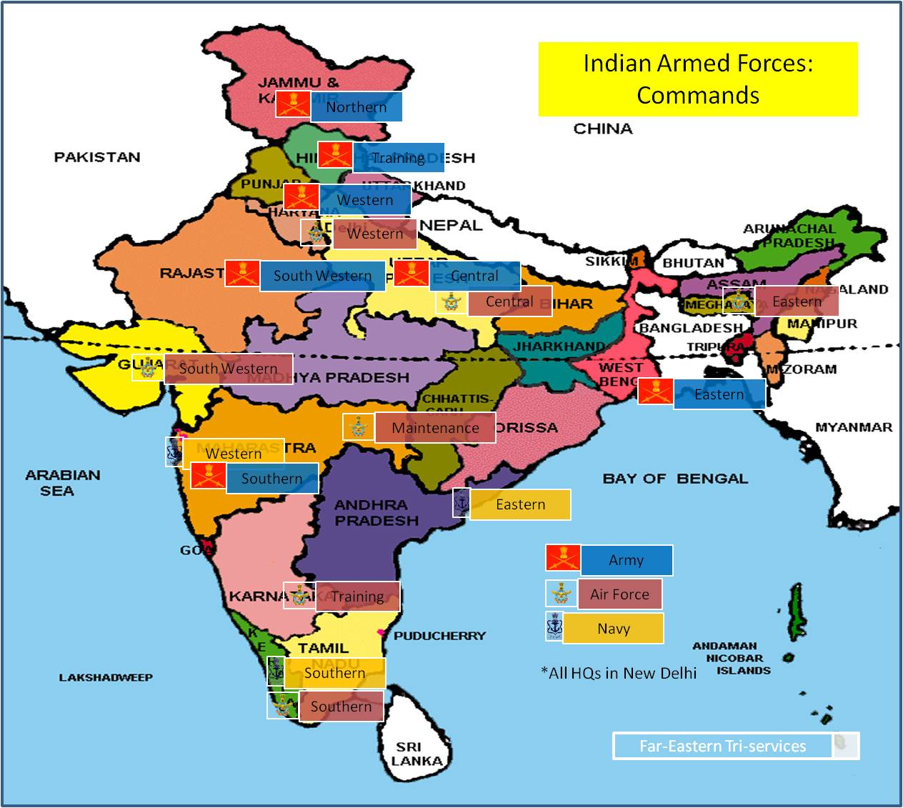 Opinions 24x7: Indian Armed Forces: Commands