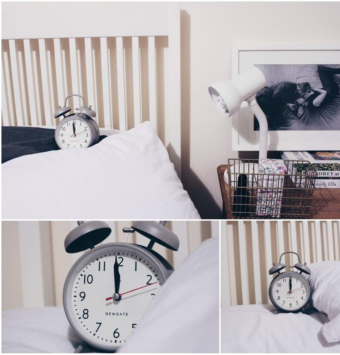 newgate alarm clock grey