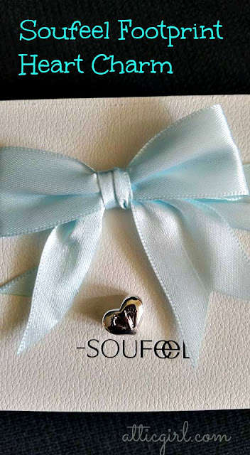 Soufeel Footprint Heart Charm