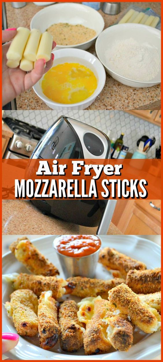AIR FRYER MOZZARELLA CHEESE STICKS RECIPE