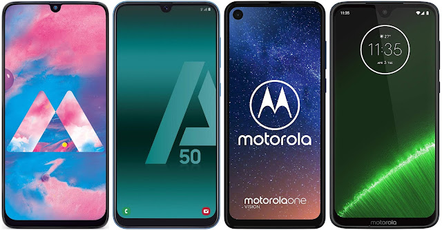 Samsung Galaxy M30s vs Samsung Galaxy A50 vs Motorola One Vision vs Motorola Moto G7 Plus