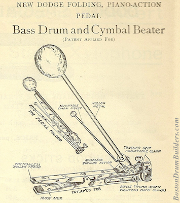 Nokes & Nicolai Bass Drum Pedal from Catalog 5, circa 1914