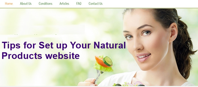 Your Natural Products website