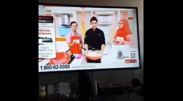 Periuk Meletup Ketika Live Jual Barang, Netizen Kutuk Program Jual Barang Cap Ayam