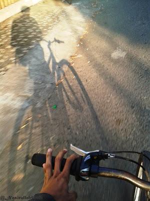 Bayangan bareng sepeda kedua