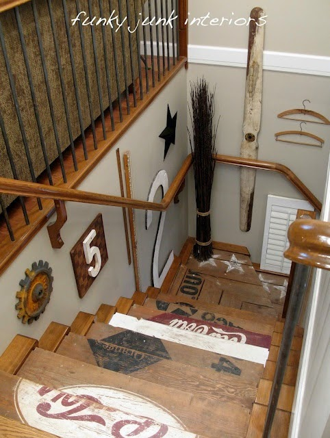 50 Creative Staircase Wall decorating ideas, art frames ... on Creative Staircase Wall Decorating Ideas  id=40912