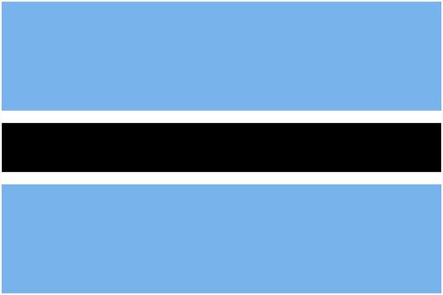 Gambar Bendera Botswana
