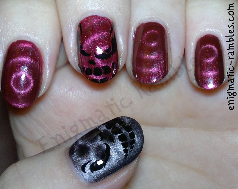 evil-face-stamped-stamping-nails-nail-art-barry-m-magnetic-burgundy-mua-leicester-square-bundle-monster-H06-BMH06