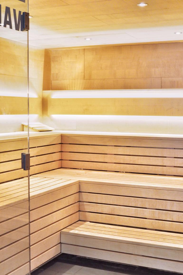 Sauna dans le centre Aquamotion - espace bien-être