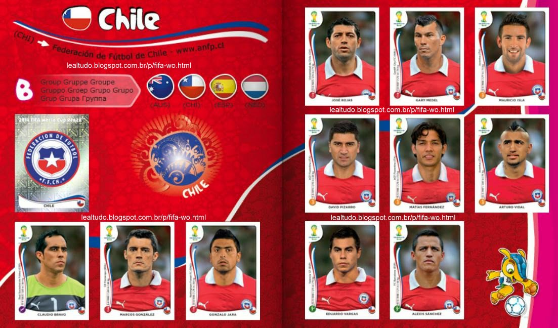 Album CHILE Fifa World Cup BRAZIL 2014 LIVE COPA DO MUNDO Sticker Figurinha Download Lealtudo