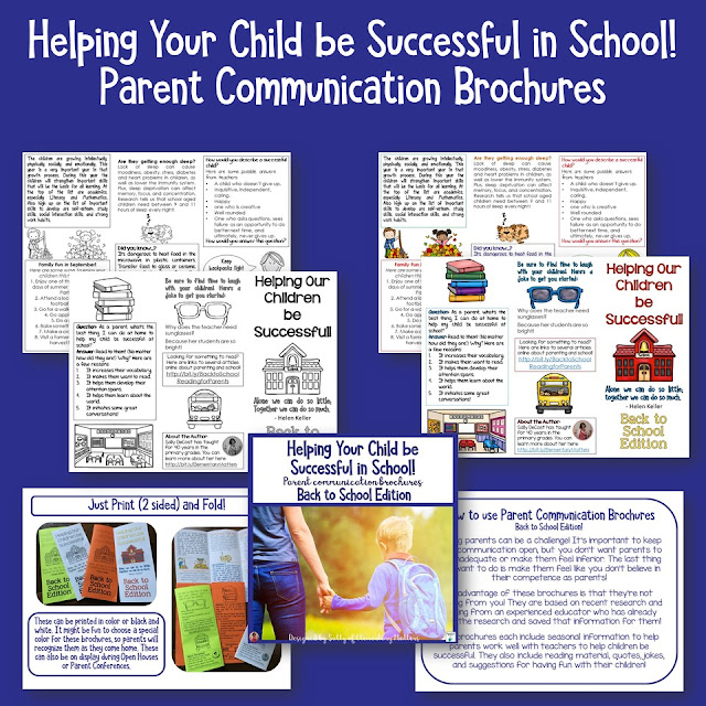 Helping Parents Help their Children be Successful: Here are some ideas to help keep communication open and share information with parents. Plus, there's a freebie!