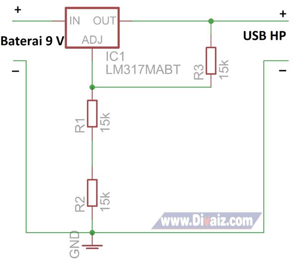 Skema powerbank sederhana 2 - www.divaizz.com