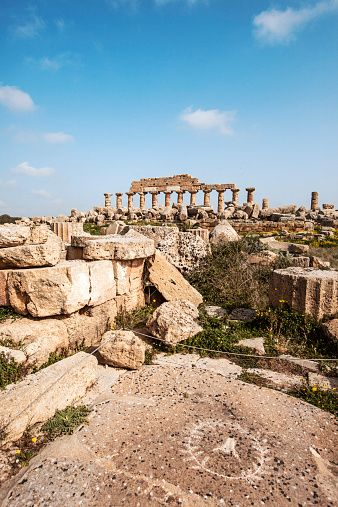The first spiral staircase was discovered in one of the five ancient Greek temples  at the Ancient Greek city of Selinute, Sicily, Italy. Photo: Getty images Fr