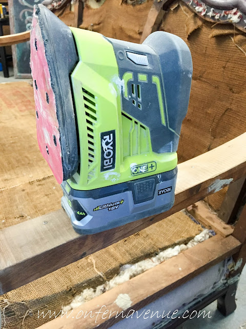 ryobi-corner-cat-sander-on-repurposed-furniture