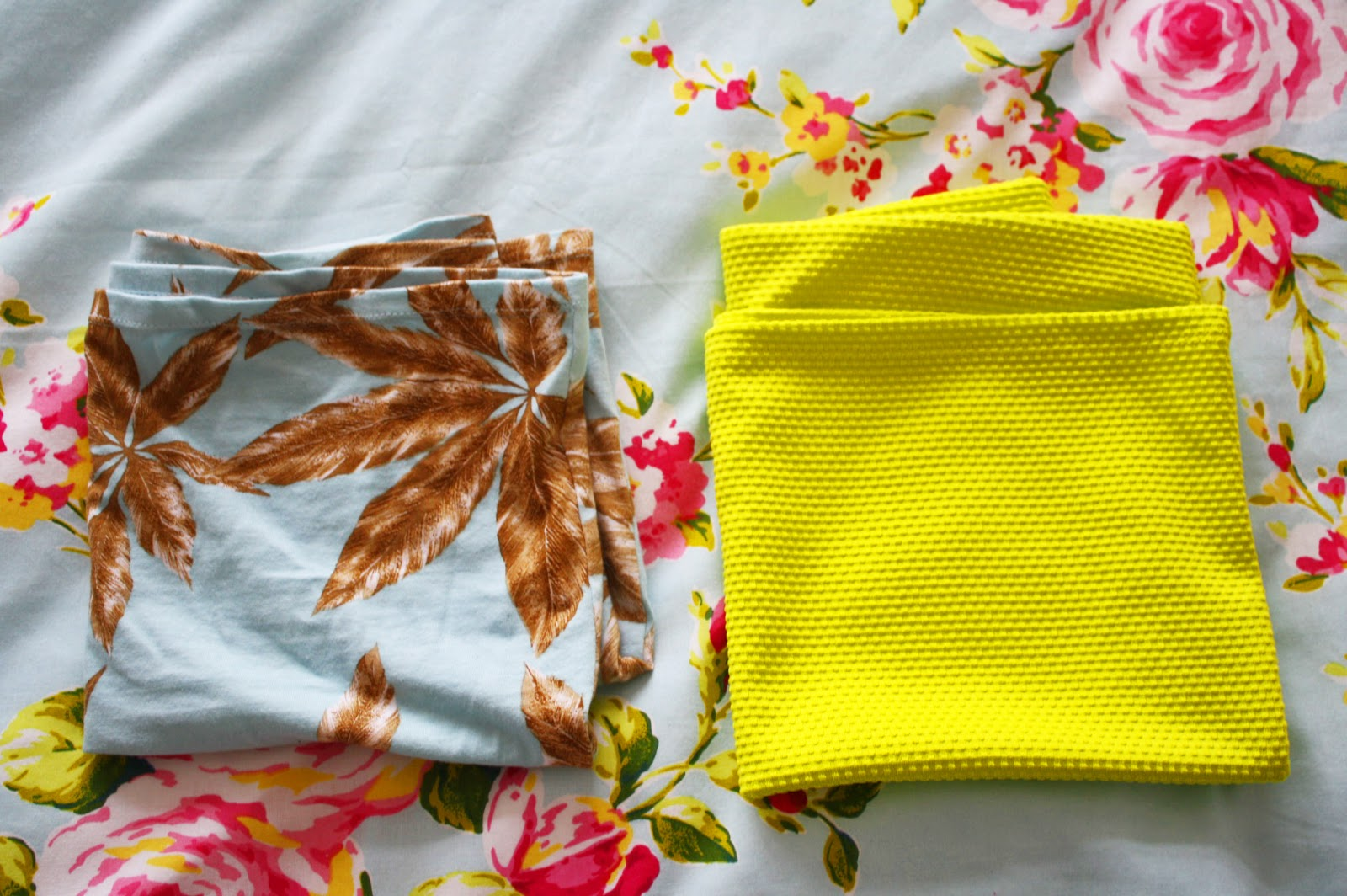 Brightly coloured skirts from Motel Rocks and River Island