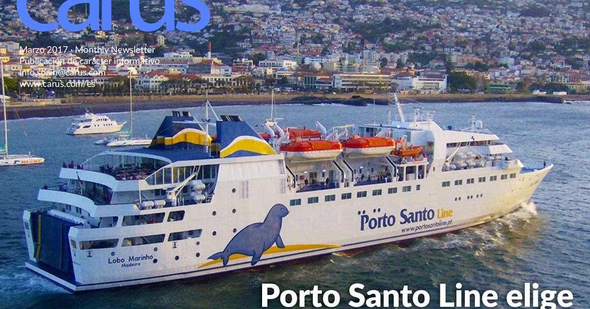 ferrybalear la naviera portuguesa porto santo line elige carus para su sistema de reservas. Black Bedroom Furniture Sets. Home Design Ideas