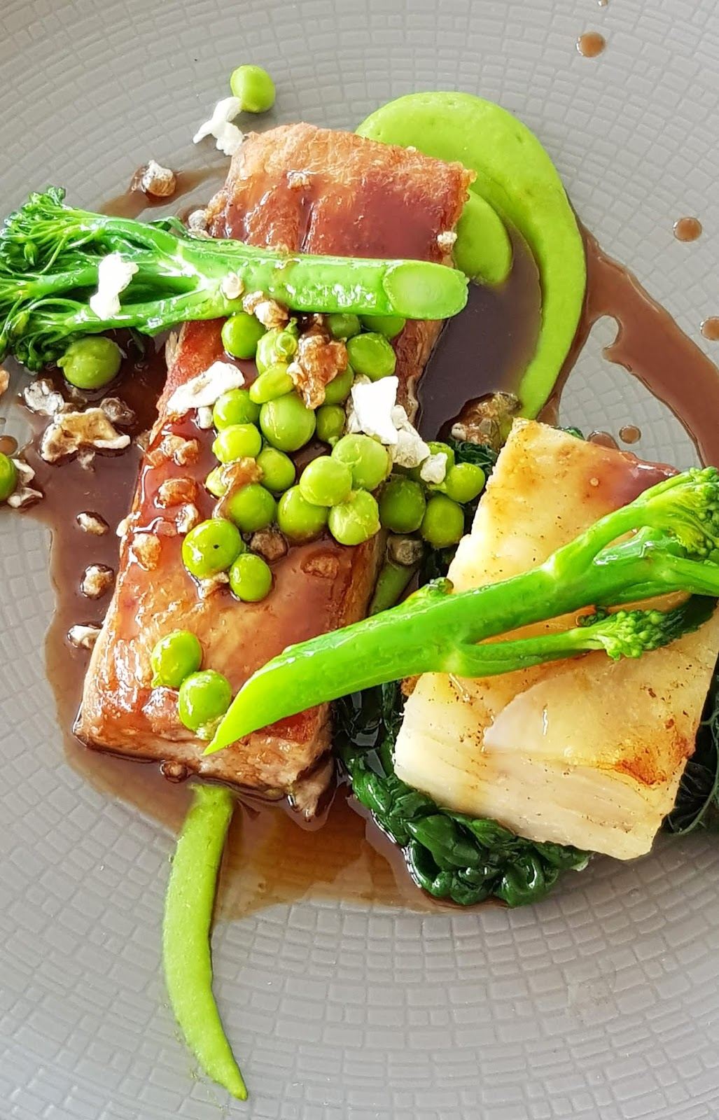 Foodie image of belly pork with Dauphinoise potatoes from the Horn of Plenty in Devon