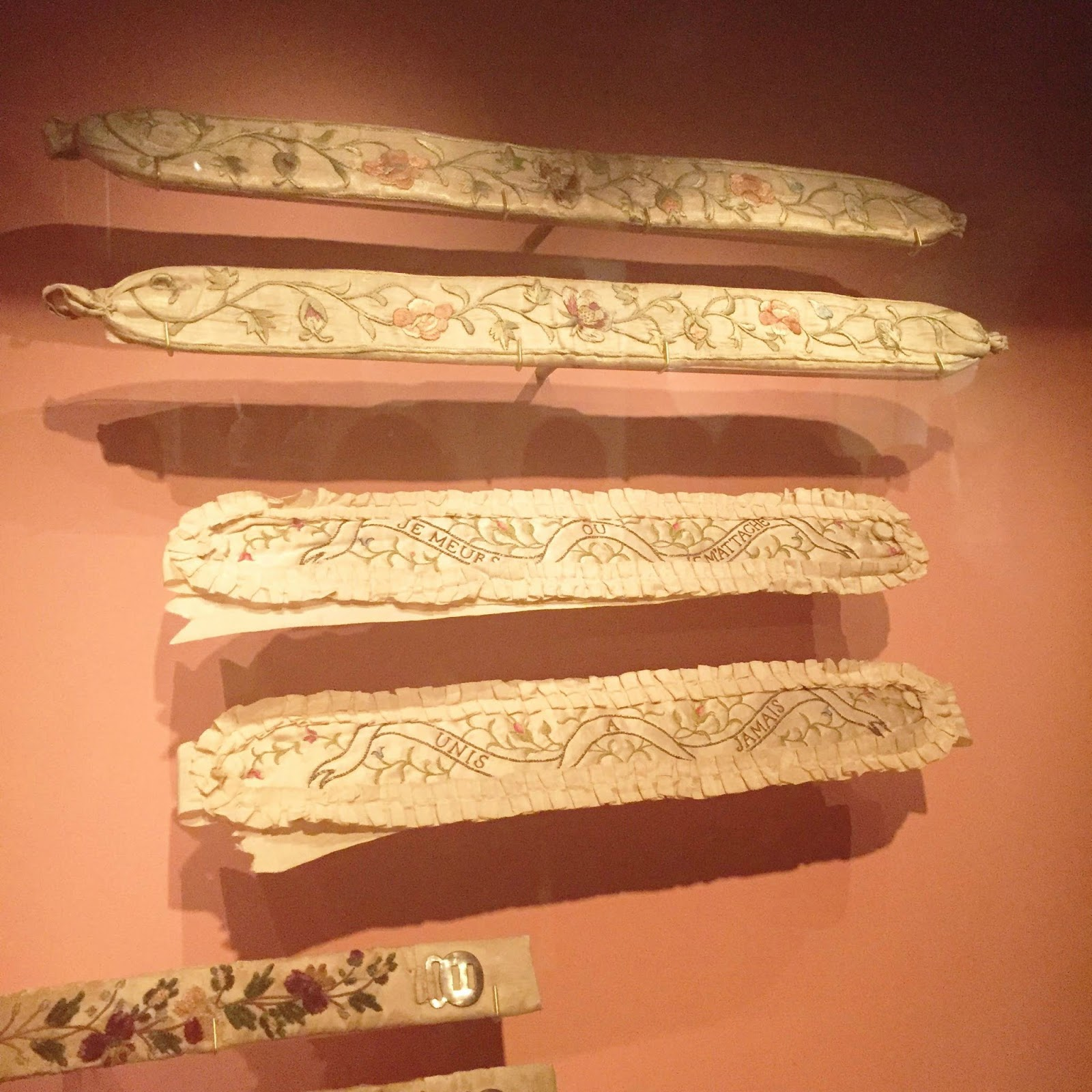Garter from the 19th century fashion exhibition