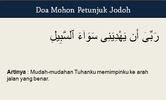 Doa Mohon Petunjuk Jodoh