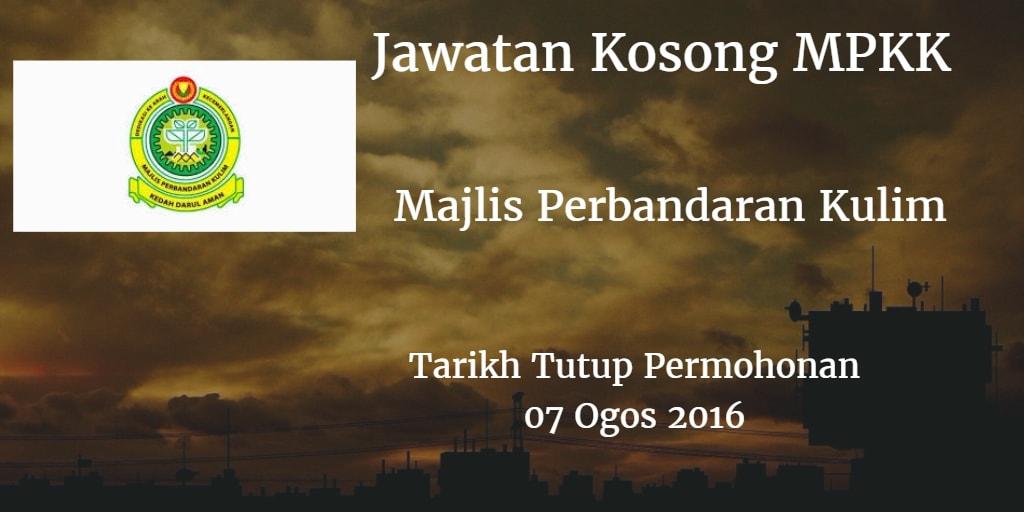 Jawatan Kosong MPKK 07 Ogos 2016