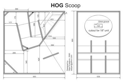Skema Box Speaker 18 inch Hog Scoop