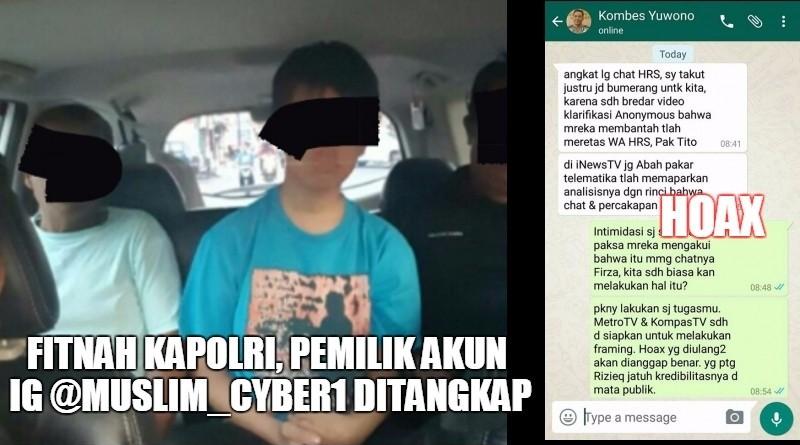 Pemilik akun IG @muslim_cyber1 ditangkap