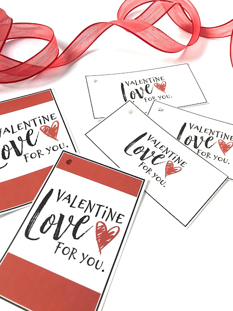 Printable Gift tags for Valentine's Day @michellepaigeblogs.com