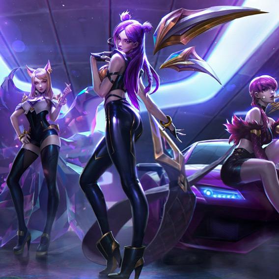 League of Legends K/DA Wallpaper Engine