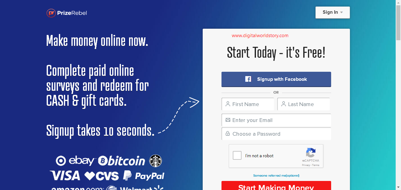 PrizeRebel Complete Review / Earn Money Without Investment - Best