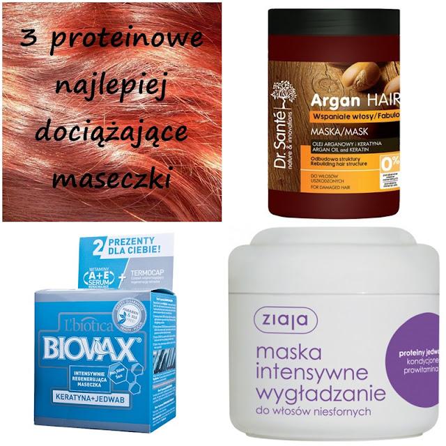 Trzy proteinowe, najlepiej dociążające maseczki do włosów