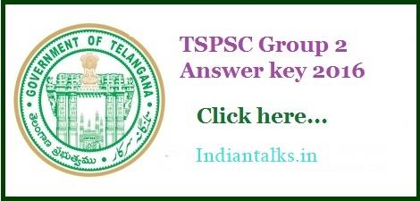 TSPSC Group 2 Exam 2016 Answer Key