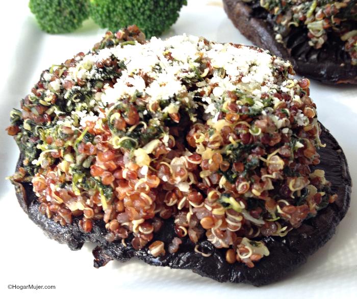 #recetas #quinoa #portobellos #cocinasana