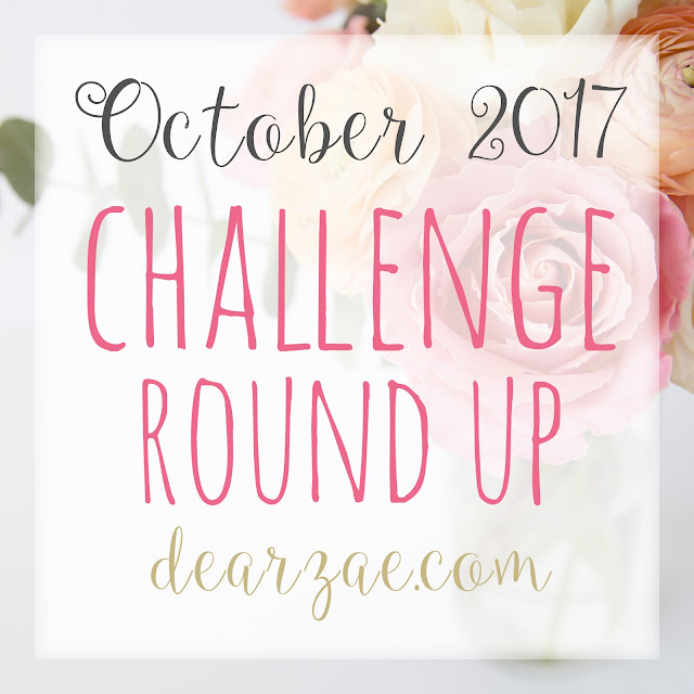 October 2017 Scrapbooking and Papercrafting challenge round up list