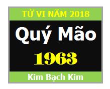 Tử Vi Tuổi Quý Mão 1963 Năm 2018