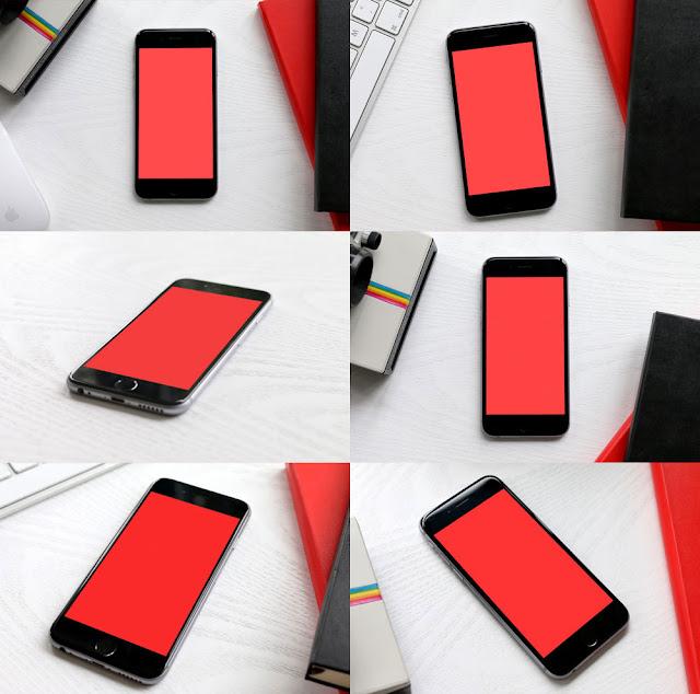 6 iPhone 6 Mockups PSD