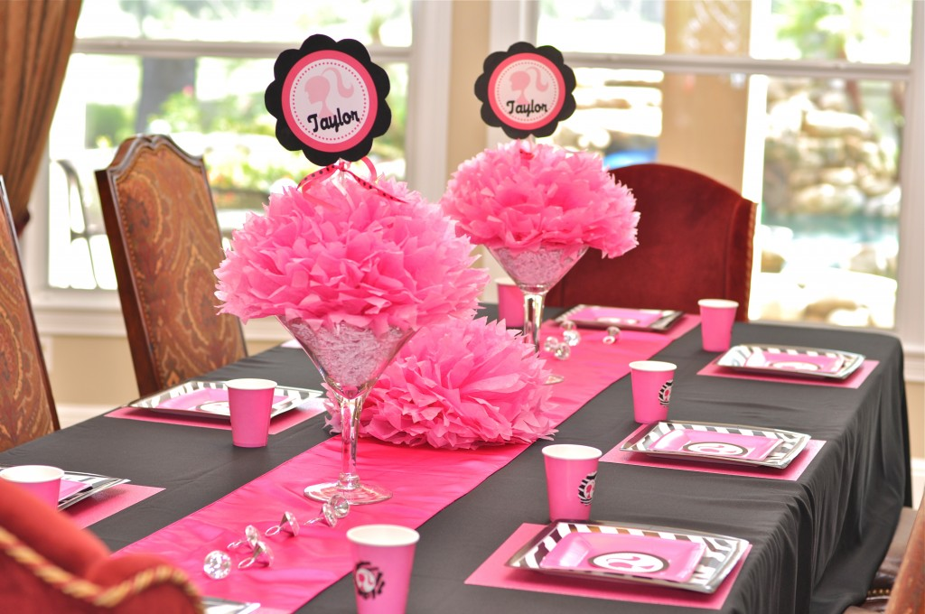 barbie party decoracin de fiestas de cumpleaos infantiles