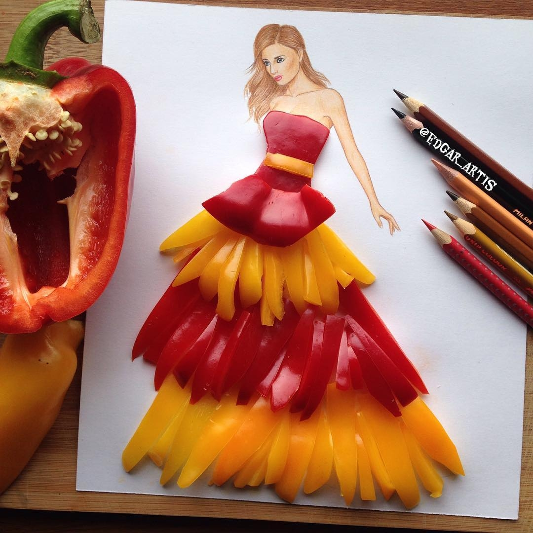 06-Peppers-Edgar-Artis-Drink-Food-Art-Dresses-and-Gowns-Drawings-www-designstack-co